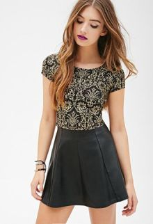 a-cute-leather-dress-with-gold-pattern